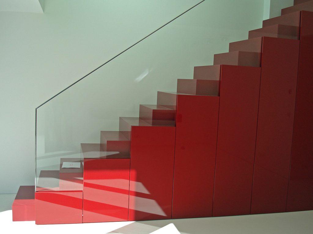 moderne Stahltreppe von Brüll+Gruber