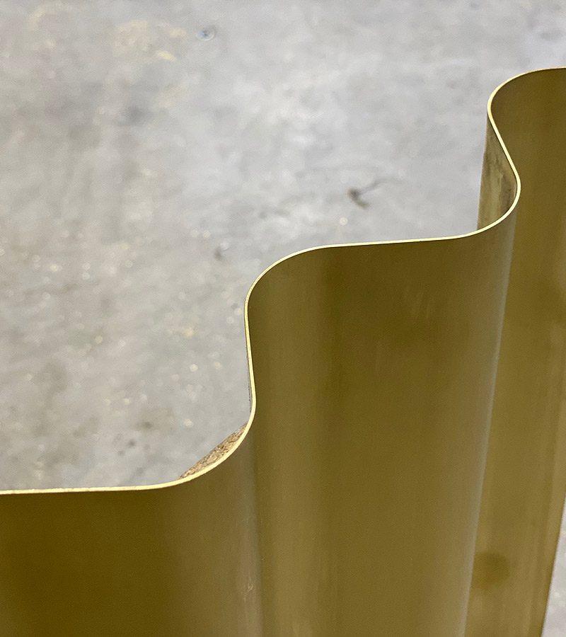 Messing-Wellblech für Innenausbau,  wählbare Radien