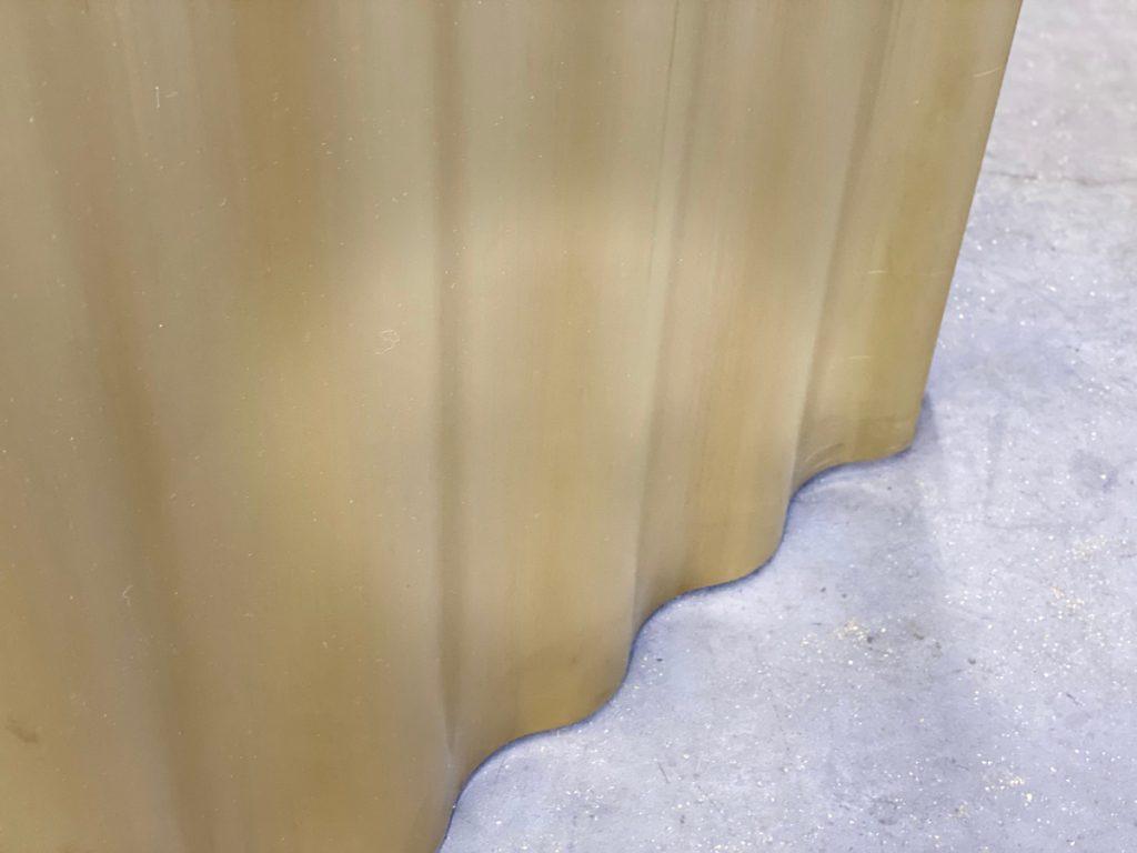 Messingwellblech in wählbaren Radien und Tiefen von Brüll+Gruber