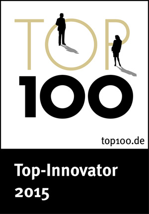 Auszeichnung Top 100 Innovator 2015 für Brüll+Gruber